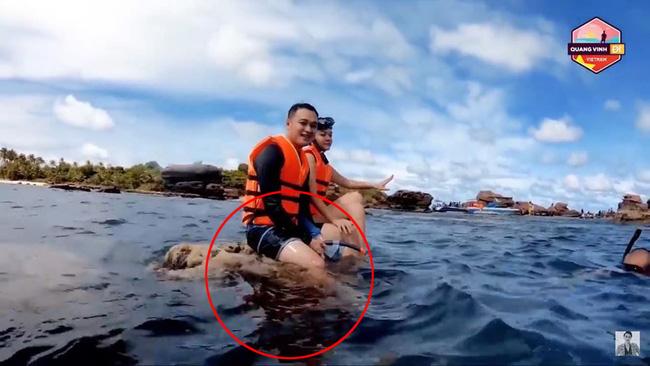 Quang Vinh lên tiếng xin lỗi vì hành động ngồi lên san hô