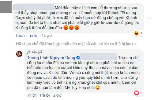 Bị chỉ trích vì đóng cặp với K-ICM, Hoa hậu Tường Linh khẳng định: Sẽ không ai dám đóng MV với Khánh nữa