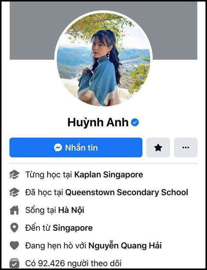 Sau tất cả, Huỳnh Anh theo dõi lại Quang Hải, cập nhật trạng thái hẹn hò nam cầu thủ trên trang cá nhân