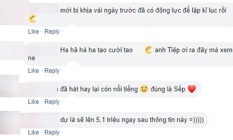 Sơn Tùng M-TP đạt 5 triệu followers, dân tình được dịp mỉa mai Vũ Khắc Tiệp