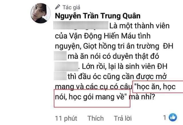 Bị chê dẫn tục ngữ sai khi đáp trả antifan, Nguyễn Trần Trung Quân lập tức lên tiếng đính chính