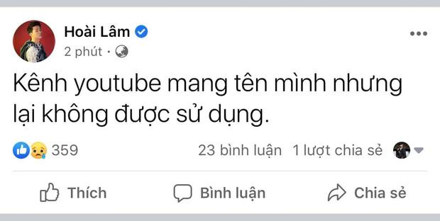 Hoài Lâm bức xúc chia sẻ chuyện kênh Youtube mang tên mình nhưng lại không được quyền sử dụng