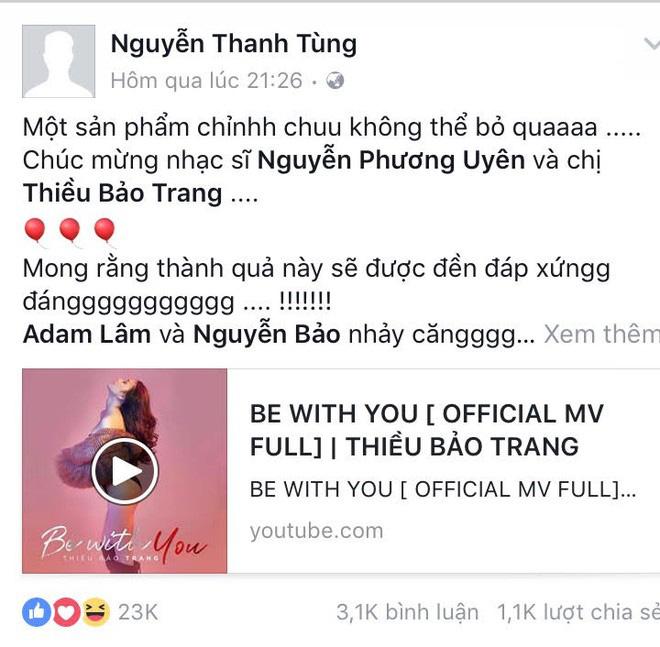 CDM đào mộ khoảnh khắc Sơn Tùng công khai ủng hộ ca khúc debut của Thiều Bảo Trâm