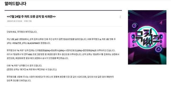 Màn trao nhầm vương miện gây sốc: Music Bank trao nhầm cúp của EXO-SC cho BLACKPINK