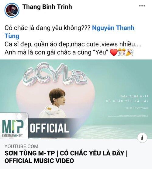 Trịnh Thăng Bình thẳng thắn: Nếu giờ ai nói tôi nịnh Sơn Tùng, tôi cũng chịu