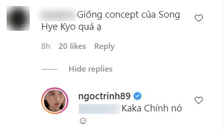 Bị nói bê nguyên concept của Song Hye Kyo vào bộ ảnh mới, Ngọc Trinh lập tức có câu trả lời cực thẳng thắn