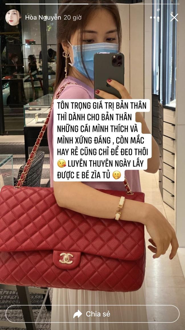 Hòa Minzy khoe túi hiệu đắt giá, tuyên bố một câu đúng chuẩn nữ đại gia