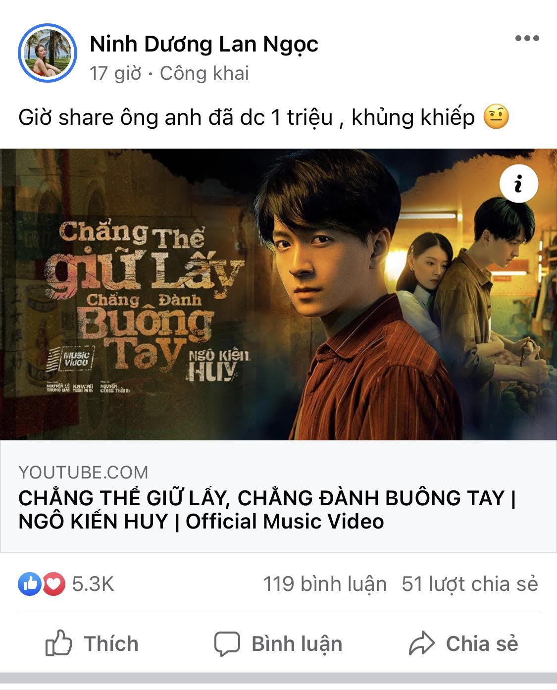 Đàm Vĩnh Hưng, Trấn Thành, Nhã Phương và gần hết showbiz Việt khen ngợi MV mới của Ngô Kiến Huy