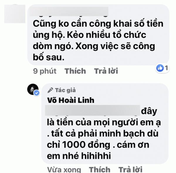 Hoài Linh đáp khi bị dân mạng dạy khôn: Không nên công khai số tiền cứu trợ