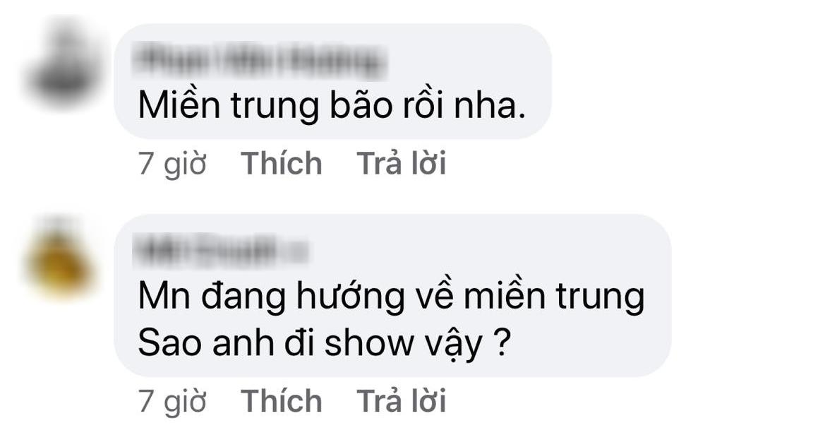 Sơn Tùng M-TP đăng ảnh đi diễn cực sung liền bị netizen nhắc nhở quyên góp cho miền Trung