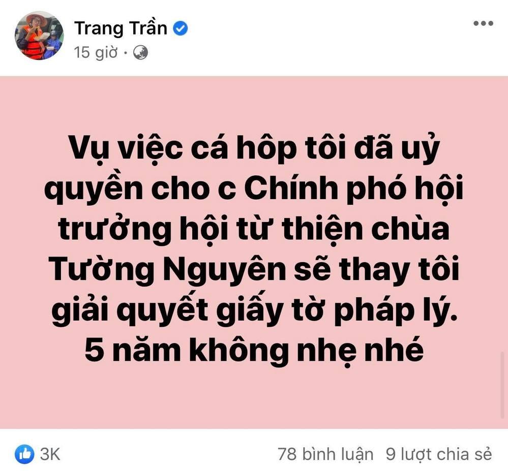 Trang Trần quyết tìm ra kẻ ăn chặn 2 tấn hàng cứu trợ miền Trung, không quên cảnh cáo: 5 năm là ít