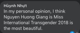 Góc quê độ: Fan Hương Giang vào cà khịa trong ảnh của Hoa hậu Chuyển giới 2019, liền bị nàng hậu phản dame cực gắt
