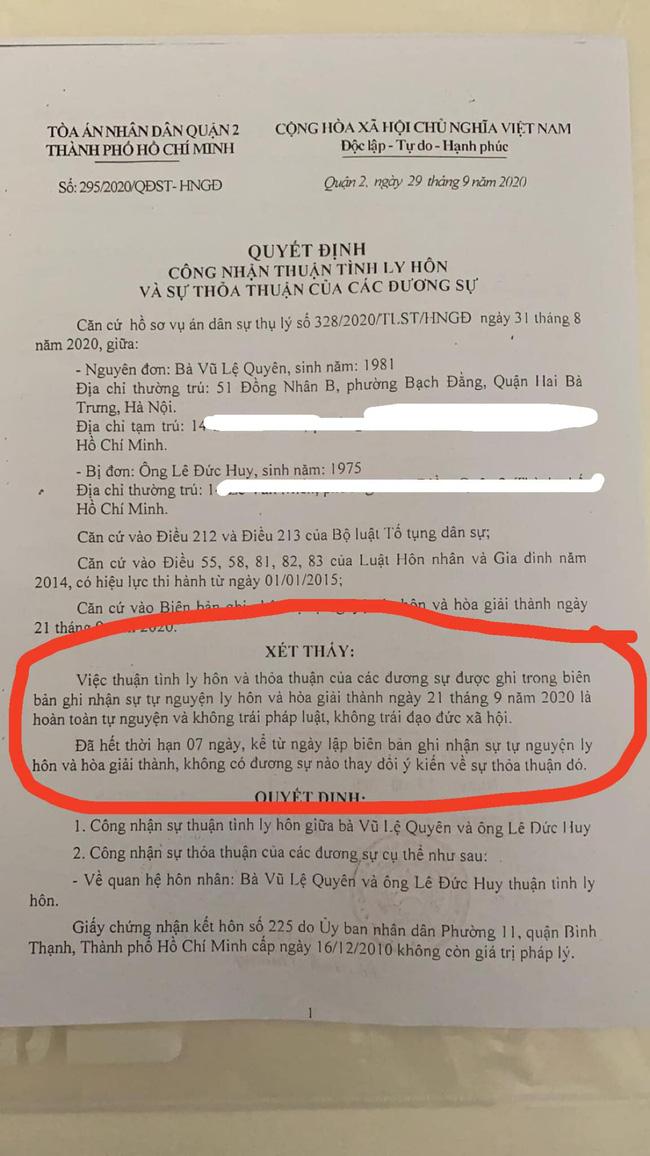 Lệ Quyên chính thức xác nhận đã ly hôn, khẳng định: Không vi phạm đạo đức, không ai làm tổn thương ai cho đến khi chia tay