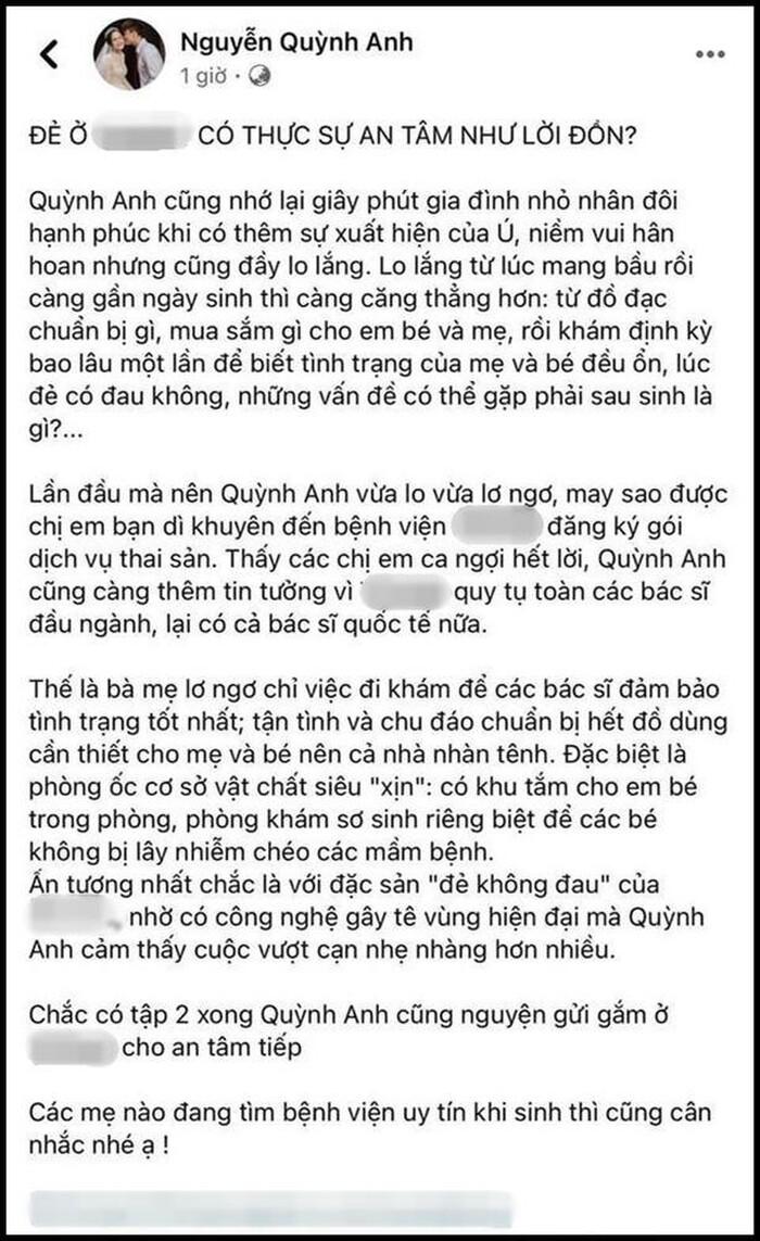 Động thái mới nhất của Quỳnh Anh - vợ Duy Mạnh sau lùm xùm nói dối chuyện đi đẻ