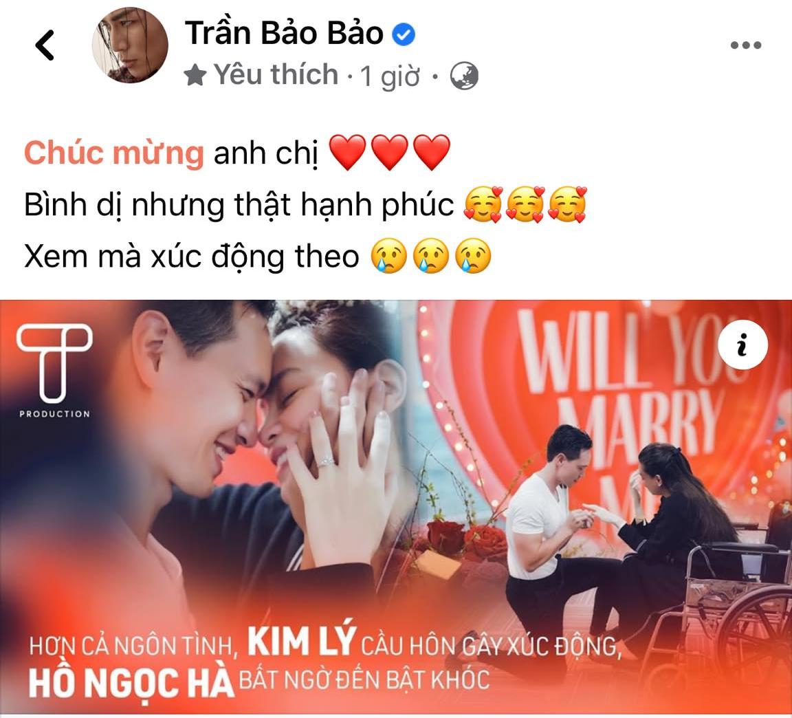 Đông Nhi, Hari Won cùng loạt sao Vbiz xúc động trước clip cầu hôn của Kim Lý - Hồ Ngọc Hà