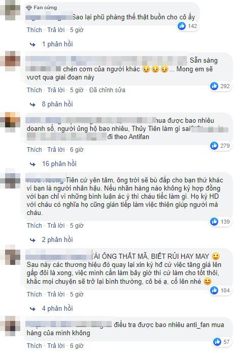 Netizen hỗn chiến bình luận về tin Thuỷ Tiên bị nhiều nhãn hàng huỷ hợp đồng