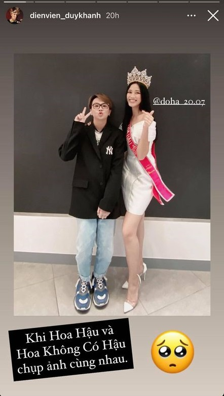 Hoa hậu Đỗ Thị Hà lần đầu phản hồi về hình ảnh hốc hác, gầy gò khi chụp chung với Duy Khánh