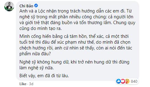 Chi Bảo không đồng tình việc nhiều nghệ sĩ đến xử lý gymer xúc phạm NS Chí Tài