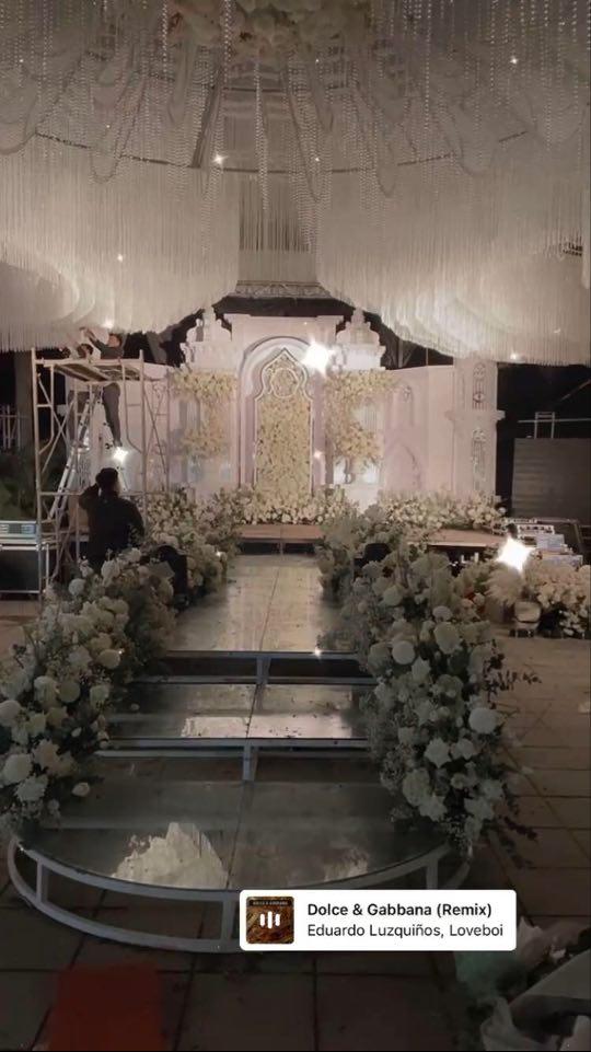 Hé lộ hình ảnh đầu tiên về không gian tiệc cưới của Bùi Tiến Dũng - Khánh Linh tại Bắc Ninh