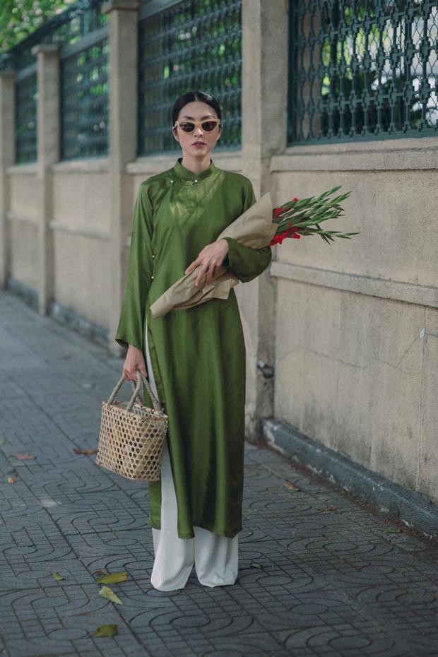"""Tăng Thanh Hà diện áo dài xuống phố liền """"gây sốt"""", nhan sắc thế nào mà được khen nức nở?"""