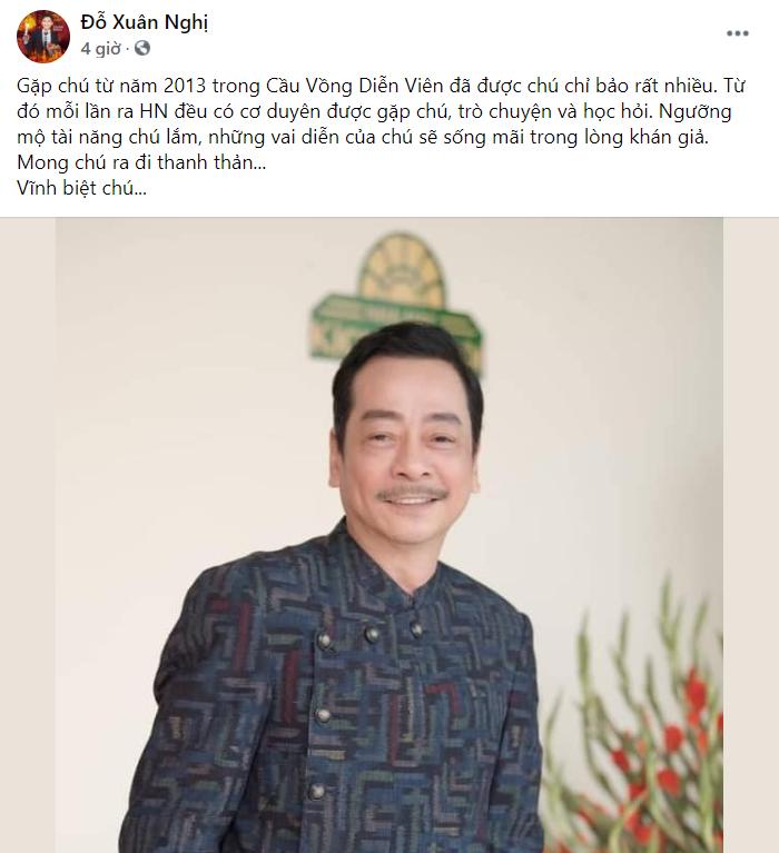 Loạt sao Việt tiếc thương khi NSND Hoàng Dũng qua đời vì bạo bệnh