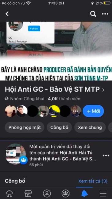 Góc quay xe: Group antifan Hải Tú bỗng được đổi tên thành anti GC, tích cực bảo vệ Sơn Tùng trên mọi mặt trận