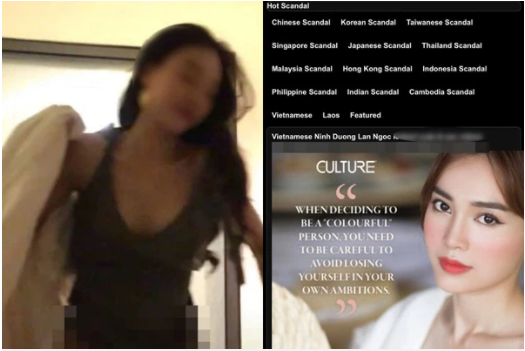 Phẫn nộ clip nóng nghi là của Ninh Dương Lan Ngọc bị phát tán trên web 18+