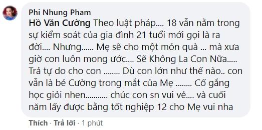 Phi Nhung tuyên bố trả tự do cho Hồ Văn Cường sau lùm xùm trách mắng bệnh ngôi sao