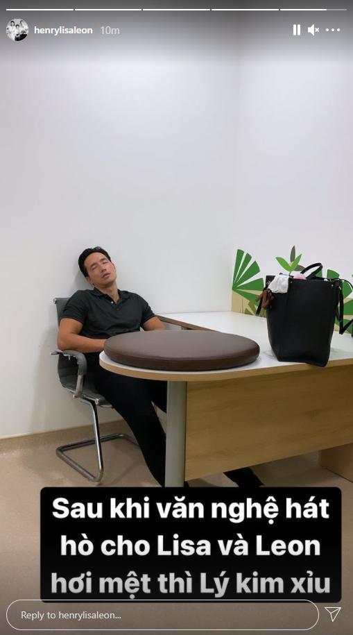 Hồ Ngọc Hà tiết lộ khoảnh khắc Kim Lý mệt lừ vì phải chăm con