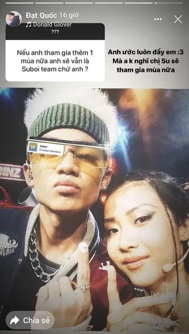 Nhiều khả năng Suboi sẽ không tham gia làm huấn luyện viên Rap Việt mùa 2