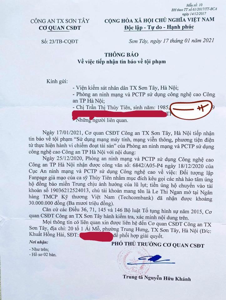 Thuỷ Tiên cảnh báo việc bị mạo danh tặng thuốc lừa đảo, tiết lộ số tiền bị trục lợi trong đợt cứu trợ miền Trung