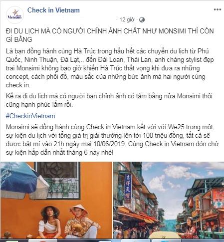 Fanpage du lịch hot nhất Việt Nam chính thức khởi động cuộc thi tìm kiếm gương mặt checkin với giải thưởng lên đến trăm triệu đồng