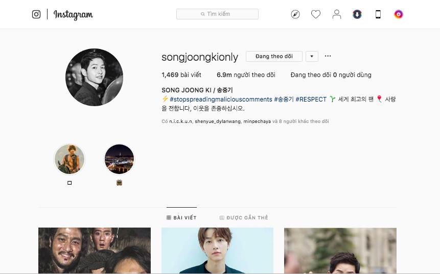 Sự thật đằng sau loạt ảnh vui vẻ mà Song Joong Ki đăng tải trên Instagram gần 7 triệu follower sau vụ ly hôn thế kỷ