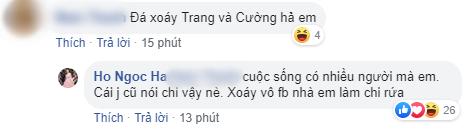 Hồ Ngọc Hà thẳng thắn đáp trả nghi ngờ đá xoáy Cường Đô La và Đàm Thu Trang trên trang cá nhân