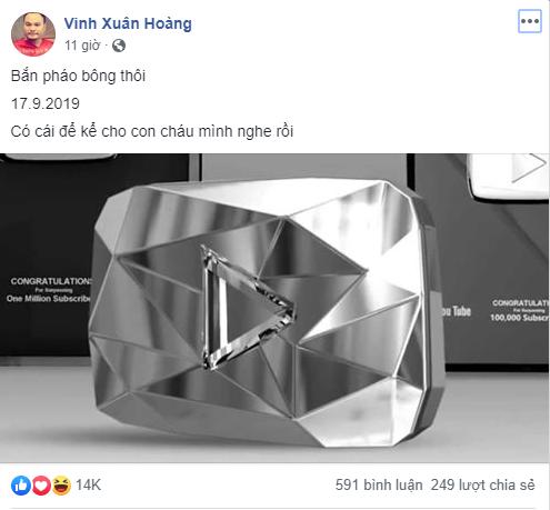 Nhóm hài FAPTV chính thức trở thành kênh YouTube đầu tiên của Việt Nam đạt được Nút Kim Cương
