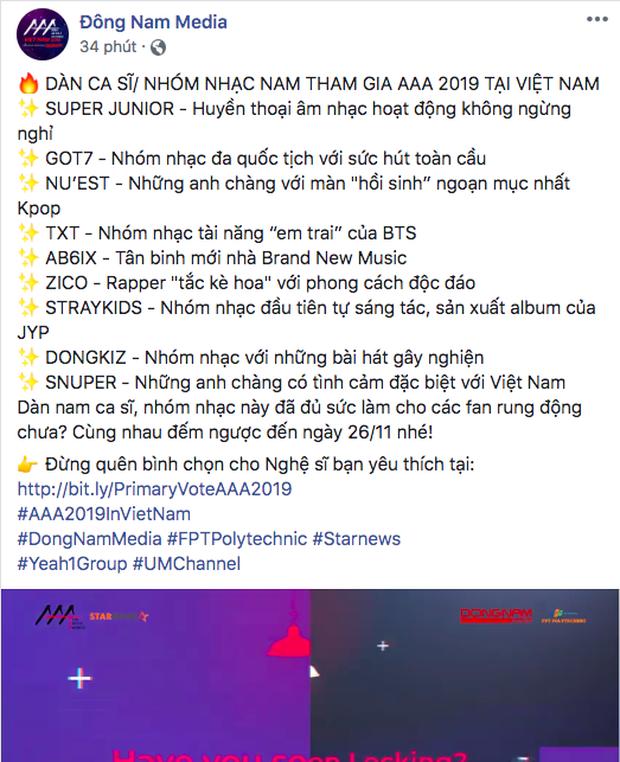 Cuối cùng, BTC AAA 2019 đã chốt hạ danh sách dàn nam thần sẽ đổ bộ đến Việt Nam vào tháng 11