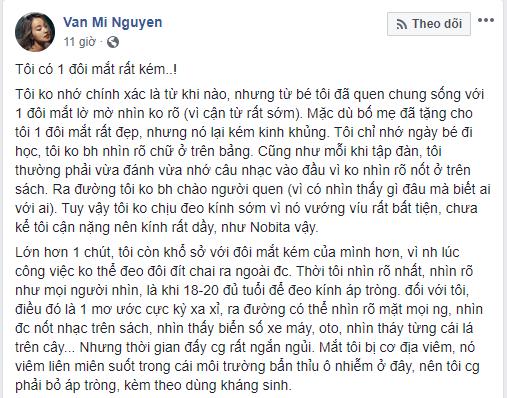 Mi Vân ngậm ngùi nhắc đến Wanbi Tuấn Anh sau khi mất thị lực: Hai đứa trong MV Đôi mắt đều bị bệnh về mắt...