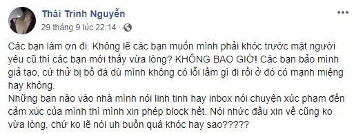 Thái Trinh cover Có tất cả nhưng thiếu em hậu chia tay Quang Đăng ngầm ám chỉ có người thứ 3?
