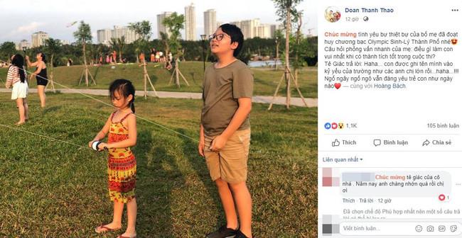 Con trai Hoàng Bách giành HCB Olympic Thành phố, nhưng câu trả lời ngây ngô của cậu bé khi đoạt giải mới thật gây cười