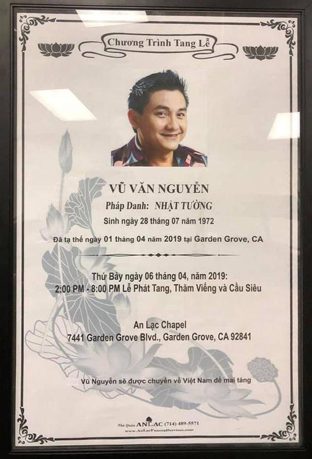 Người thân đã nhận thi thể Anh Vũ tại Mỹ, dự kiến ngày 9/4 về đến Việt Nam