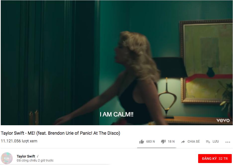 Hạ bệ ngôi vương của BTS, Taylor Swift chính thức trở thành nghệ sĩ sở hữu MV đạt 10 triệu views nhanh nhất mọi thời đại!