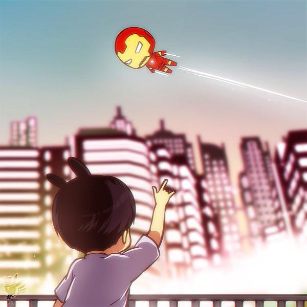 Em út Jungkook (BTS) chỉ khoe clip Iron Man bay qua thôi mà thu về 3,5 triệu view