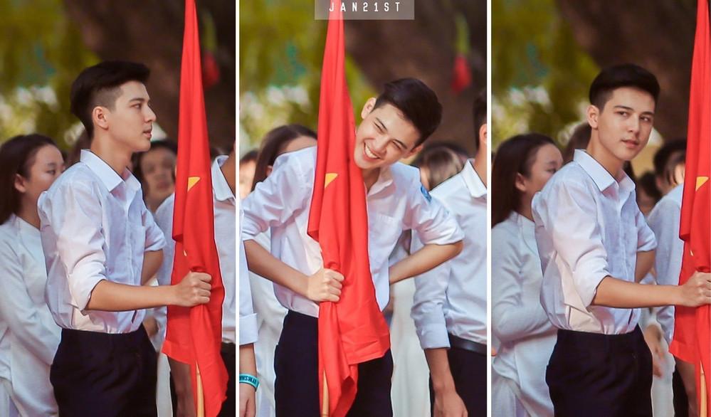 """Hình mới nhất của""""hotboy cầm cờ"""" Hồng Đăng: Xíu mụn tuổi dậy thì cũng không lấp được vẻ đẹp trai"""