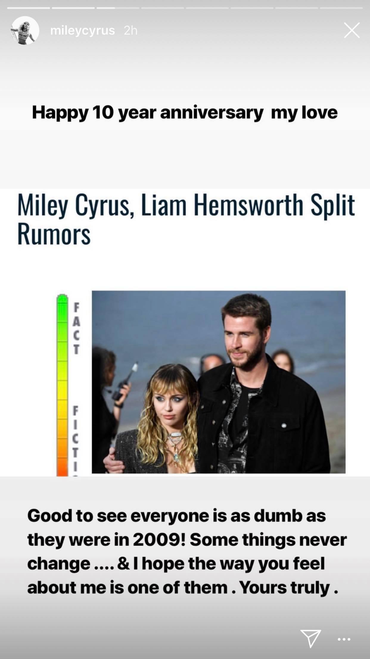 Đang yên đang lành bị đồn chia tay Liam, Miley Cyrus đích thân đá xéo và đáp trả bằng cách khiến ai cũng ghen tị