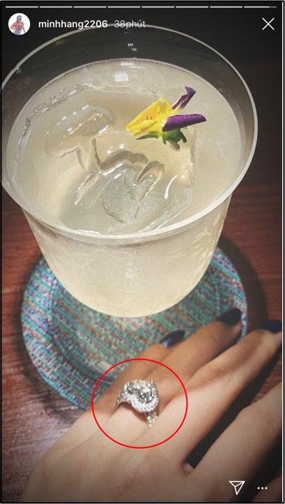 Minh Hằng bất ngờ khoe nhẫn kim cương siêu khổng lồ ở vị trí đặc biệt, nghi vấn chuẩn bị lên xe hoa?