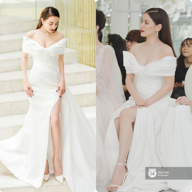 Nhã Phương và mỹ nhân Chiếc lá bay cùng diện một kiểu váy: Khi nhan sắc bất phân thắng bại thì màu son sẽ quyết định tất cả