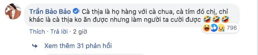 Đáng yêu như Hariwon đăng đàn hỏi cà thịa là gì, BB Trần rất chịu khó giải thích:  Cà thịa là họ hàng với cà chua, cà tím đó chị