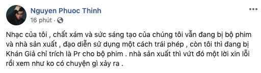 Noo Phước Thịnh tức giận thái độ của NSX Ngôi nhà bươm bướm: Đừng vứt đó một lời xin lỗi rồi xem như không có chuyện gì