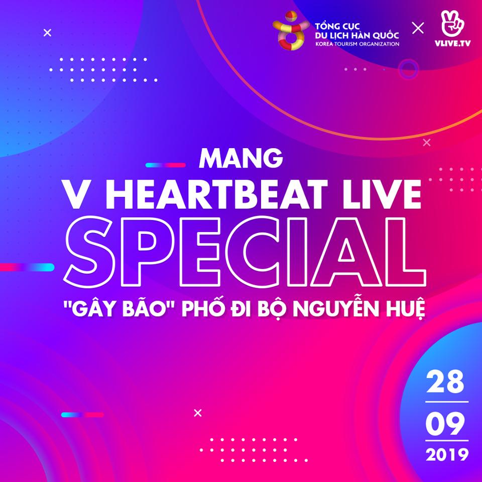V Heartbeat tháng 9 có Noo Phước Thịnh, G-Friend sẽ diễn ra ở  phố đi bộ Nguyễn Huệ