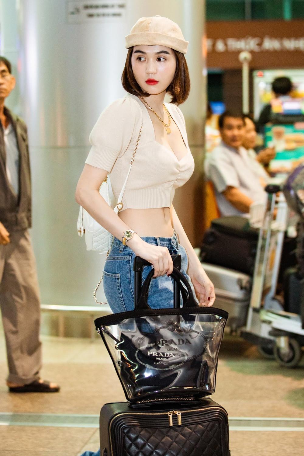 Vừa kết thúc ồn ào với Vũ Thu Phương, Ngọc Trinh sang Pháp sắm hàng hiệu khoe vòng eo 56 tại sân bay